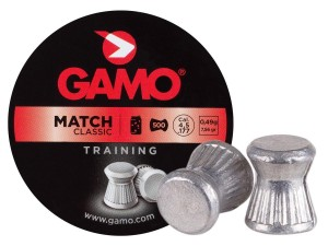 Gamo Match 0.177-Cal 500 Pellets | Wadcutter Head-7.87 Grains