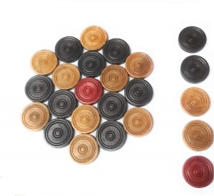 ADD GEAR Carrom Coins Solid Wood Quality Carromen Tournament Grade Professional 24 Coin Set