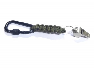 ADD GEAR Carabiner + Thunderer Whistle + Paracord - All in one Lanyard for Outdoor Camping Hiking, Football