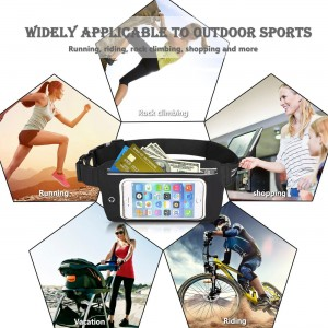 Add-gear Waterproof Waist Phone Pouch Adjustable Running Belt with Touch Screen