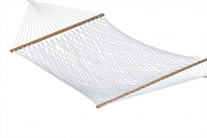 Nylon Rope Hammock with Wooden Spreader Bars 1 meter width
