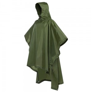 Multifunctional Rain Poncho Ripstop Light Weight Raincoat Waterproof