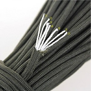 Parachute Cord with 7 strand core 550 lbs tensile strength