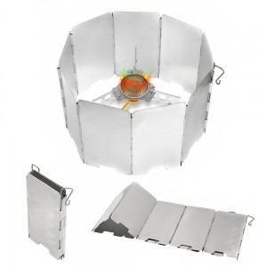 Add-gear Camping Stove Wind Shield Screen 9-plates Foldable