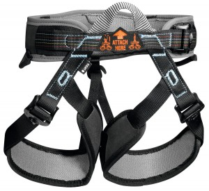PETZL ASPIR Adjustable harness with padded waist belt