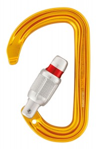 PETZL Sm'D Compact D-shaped Screw locking Carabineer