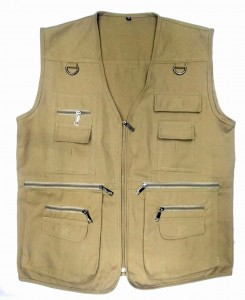 Photographer Jacket Multi Pocket Vest, Utility Vest Gilet