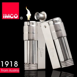 Imco Windproof Petrol Lighter - Imco Indian Bull 6700 Vintage Lighter - Austria