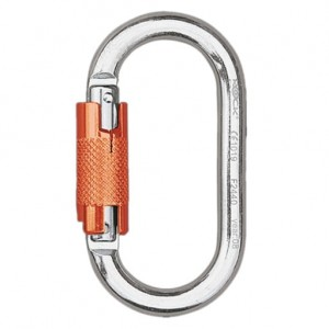Rock Empire Steel Oval Twist Lock Carabiner