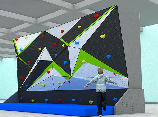 bouldering wall climbing gym